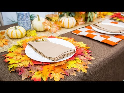 DIY Fall Placemats - Home & Family