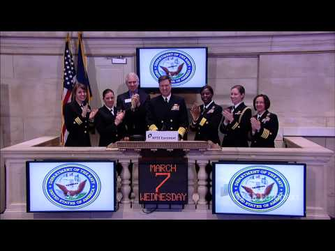 Admiral Mark Ferguson of the U.S. Navy rings the NYSE Closing Bell
