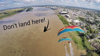 Turbulent Mid Day Flight Over The Ohio River!