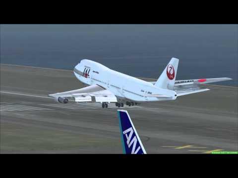 FSX Hong Kong Kai Tak - Approach and Landings Part 2 of 2