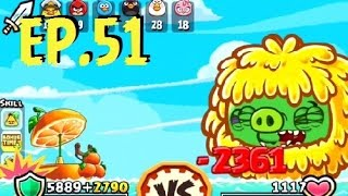 Angry Birds Fight! - MONSTER SUPER YETI PIG - RARE YETI FIGURINE & MAGICIAN PIGGY PRIZES  - EP51