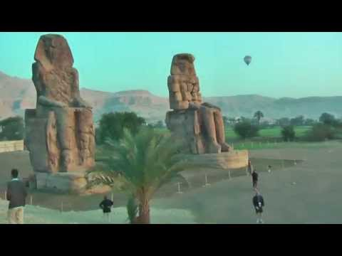 Colossi of Memnon are two massive stone statues of Pharaoh Amenhotep III
