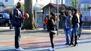 kim kardashian plays basketball like a little girl