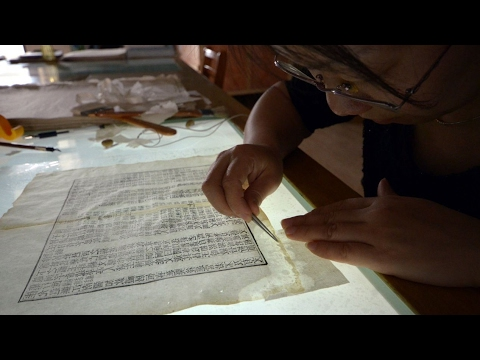 'Doctors' for ancient books take residency at the National Library in Beijing