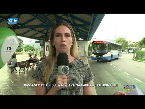 Passagem de ônibus mais cara na Capital e em Joinville