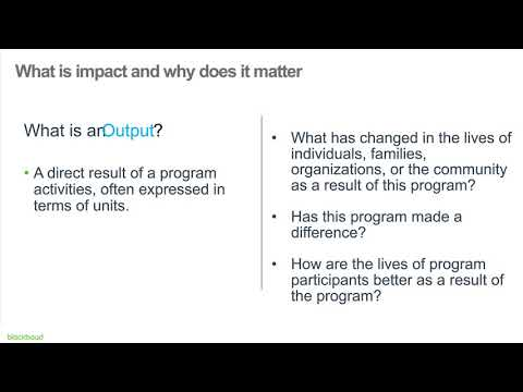 Intro to Impact Measurement