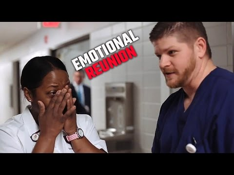 Watch emotional reunion between Alabama nurse and former patient
