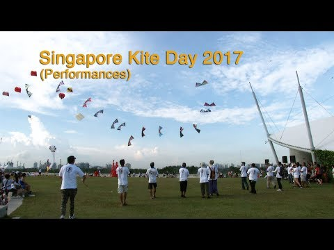 Singapore Kite Day 2017 - Part 2 (Performances) at Marina Barrage