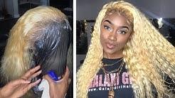 GLUE-LESS 613 CURLY BLONDE WIG (Vanlov Hair)