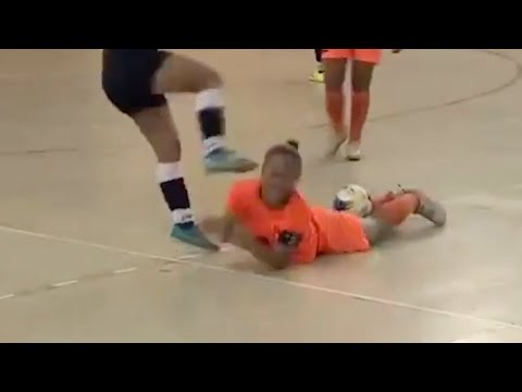 Indoor Soccer Player Viciously Kicks Girl in Neck for ing Off