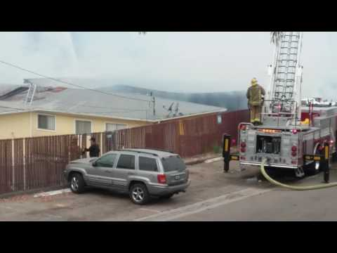 Fire on Bancroft and Helix, recycling center