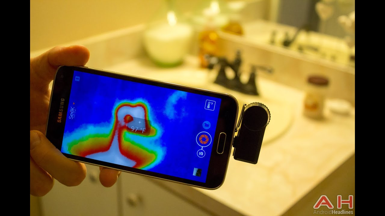 Seek Thermal camera add-on accessory - YouTube