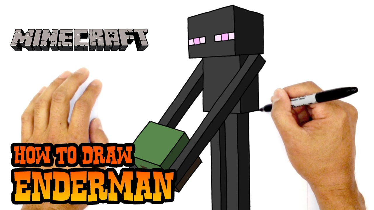 How to Draw Minecraft | Enderman