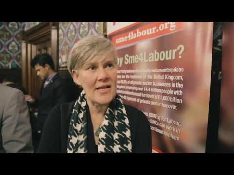 Kate Green MP speaking at SME4LABOUR launch reception in parliament