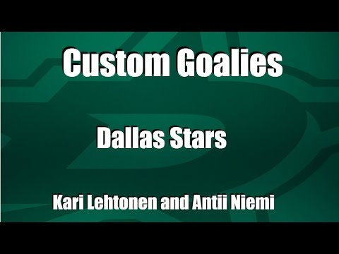 Dallas Stars Goalies NHL 17 Goalie Custom Equipment! DtoddWpg Creates Team Sets