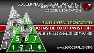 Plus 4 Skills Challenge Pyramid - #2 Inside foot twist off