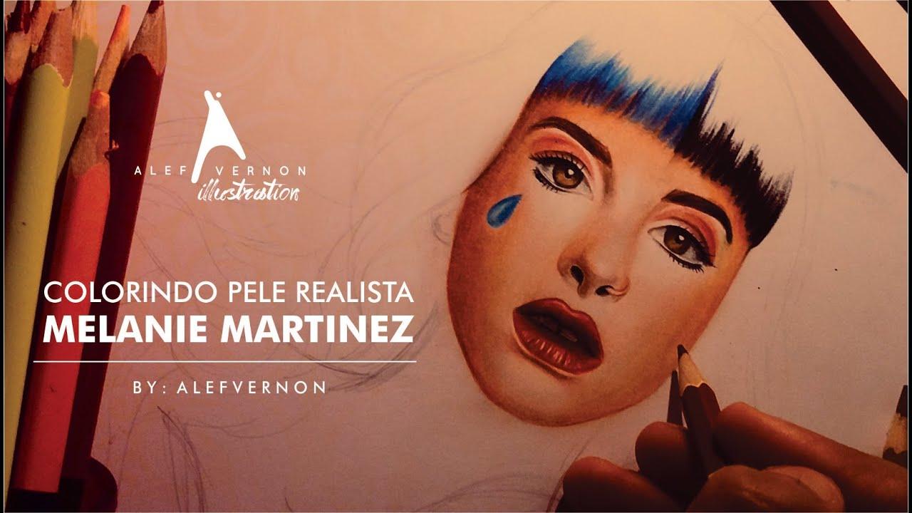 Como Desenhar E Colorir Pele Realista: Melanie Martinez