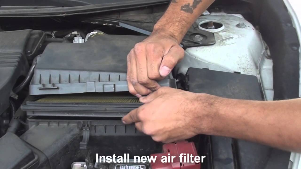 Good How To Install Air Filter Nissan Altima 2013 2014