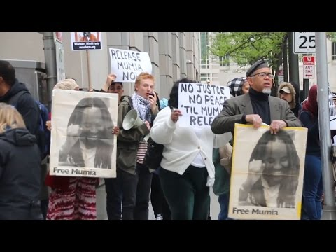 Activists demand freedom for Mumia Abu-Jamal outside Philadelphia courthouse