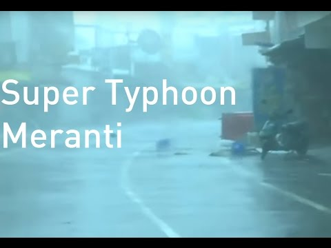 Super Typhoon Meranti tears through Taiwan