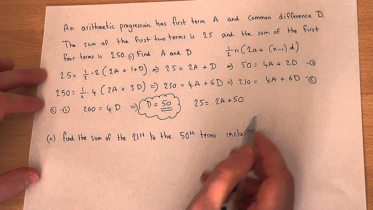 Arithmetic Sequences solving problems involving arithmetic – Arithmetic and Geometric Sequence Worksheet