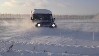 уаз  31519 по снегу . uaz 31519 in snow .