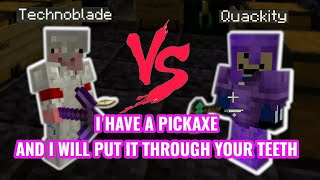 Technoblade vs Quackity with both POV and subtitles - Dream SMP