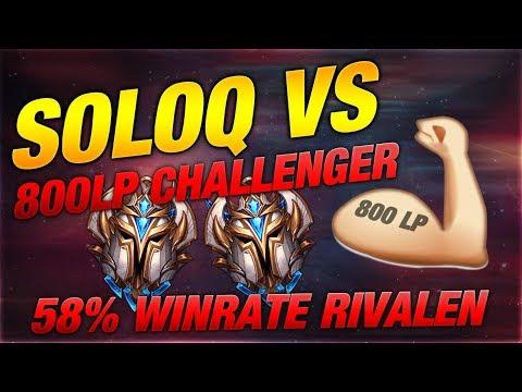 SOLO Q VS 800 LP CHALLENGER + 58% WINRATE RIVEN??? [League of Legends] thumbnail