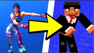 *TUTO* REFAIRE LA DANSE FORTNITE BATTLE ROYALE DANS MINECRAFT ! FLOSSING