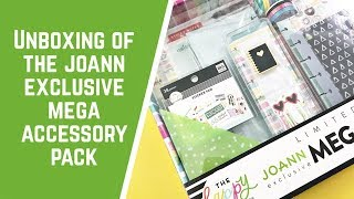 Joann Exclusive The Happy Planner Mega Accessory Pack Unboxing