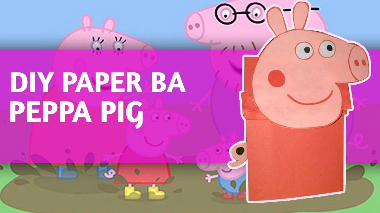 diy - paper bag peppa pig time-lapse tutorial