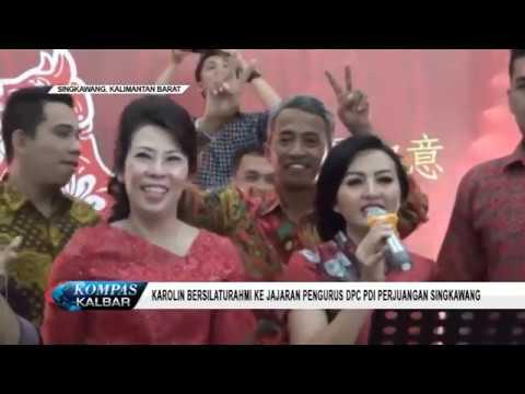 Karolin Bersilaturahmi Ke Jajaran Pengurus DPC PDI Perjuangan Singkawang