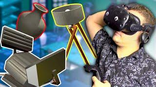 ПРОФЕССИОНАЛЬНАЯ СБОРКА МЕБЕЛИ ОТ ГЛЮКА В VR   Home Improvisation: Furniture Sandbox