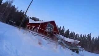 Hundeschlittenfahren in Schweden