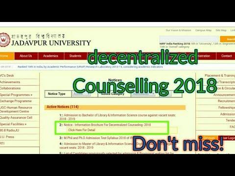 WBJEE decentralized Counselling 2018||jadavpur University Mp3