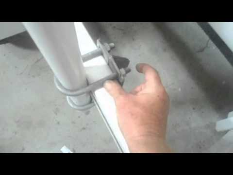 "Galvanized guide post that will fit 4""or 5"" beam 