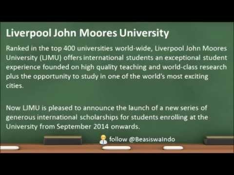 2014 UK - Liverpool John Moores University International Scholarship