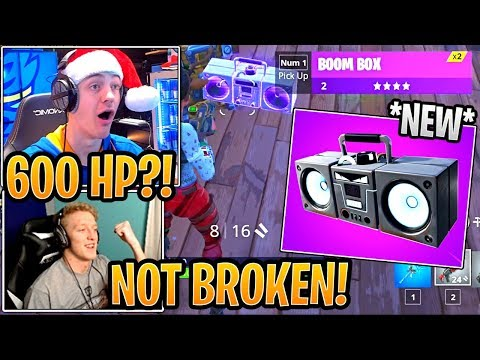 Tfue & Streamers First Time Using *NEW* Boombox! - Fortnite Best and Funny Moments thumbnail