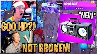 Tfue &amp Streamers First Time Using NEW Boombox! - Fortnite Best and Funny Moments
