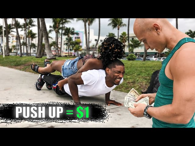 Paying Money for Push Ups Challenge