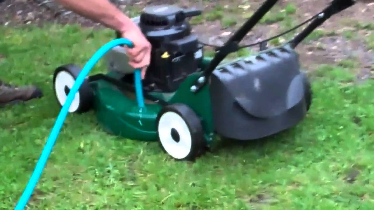 How to wash the grass