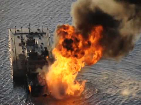 Oil Barge explosion