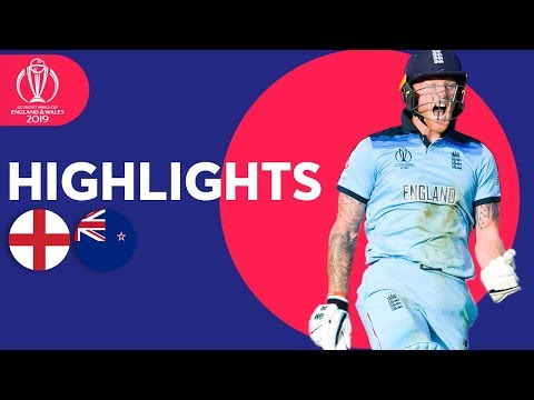 New Zealand vs England - Match Highlights  ICC Cricket World Cup 2019