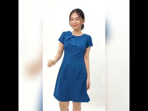 Váy đầm công sở nữ thời trang Eden dáng chữ a - D415