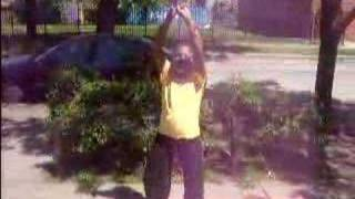 My lil 9 year old sister dancing to rock yo hips