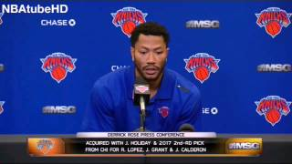 Derrick Rose - Knicks Introduction Press Conference