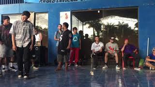 Bboy Leon Mirror Crew vs Bboy Zoom Ñemby city  Paraguay 2018