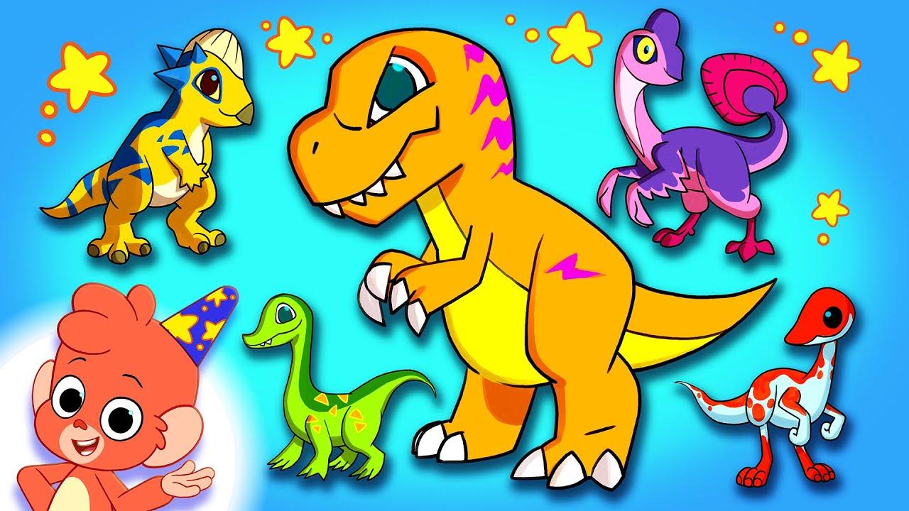 Learn Dinosaurs for Kids | Dinosaur Cartoon videos | Dino Alphabet ABC | Club Baboo