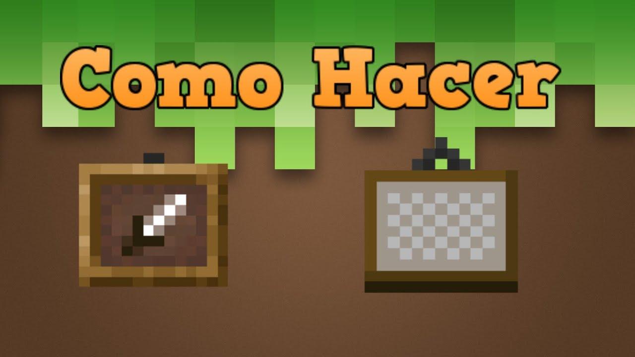 Minecraft - Como hacer Marcos para objetos y Cuadros - YouTube