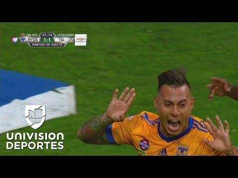 Eduardo Vargas empató la final para Tigres con cantada de Hugo González